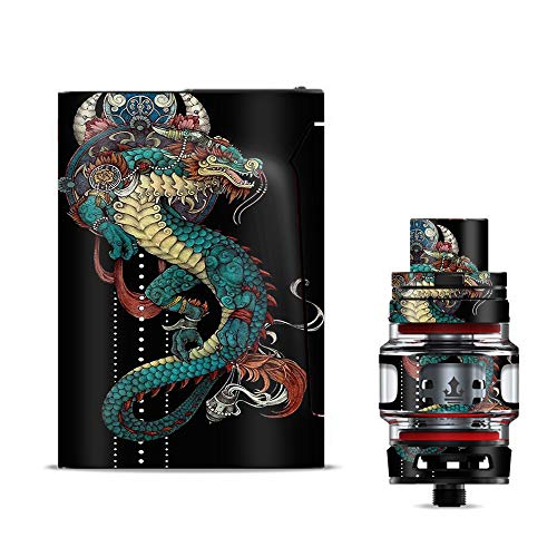 IT'S A SKIN Decal Vinyl Wrap for Smok V-Fin 160w kit Vape Stickers Cover/Dragon Japanese Style Tattoo - Free Japanese Dragon Tattoos