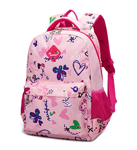 Fanci Girls Butterfly Backpack Primary School Student School Bag Cuddly Daypack Nylon Rucksack