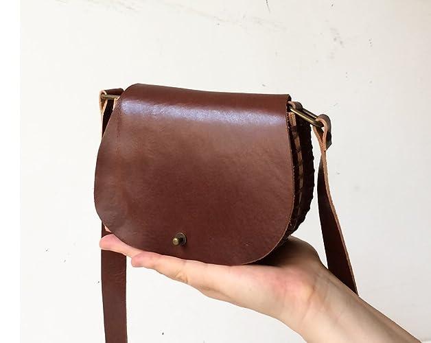 b96f648033 Piccola borsa a tracolla, borsa ragazza handmade in pelle, borsetta donna  in cuoio,