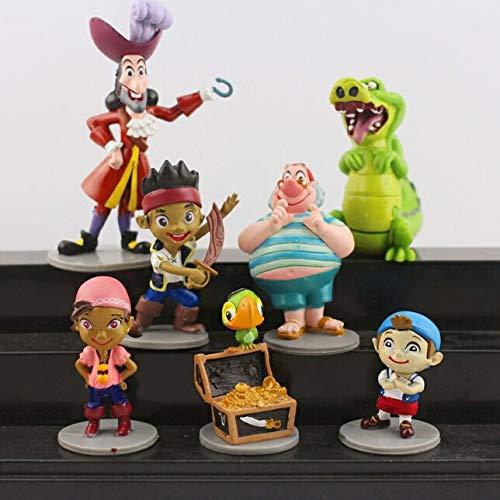 7pcs/Set 5-10 cm Jake and The Neverland Pirates Toy Figure Set