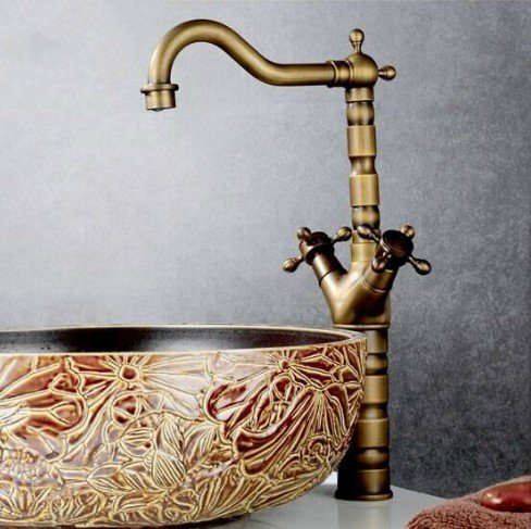 SUhang Kitchen Sink Taps The Copper Hot And Cold Antique Washbasin Universal Plus High Basin Single Hole Double The Standard Features Water Dragon
