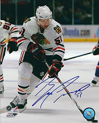 8x10 Blackhawks Chicago Photo - Autographed Brian Campbell Chicago Blackhawks 8X10 Photo with COA