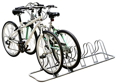 DecoBros 5 Bike Bicycle Floor Parking Adjustable Rack Storage Stand, Silver by Deco Brothers (Image #3)
