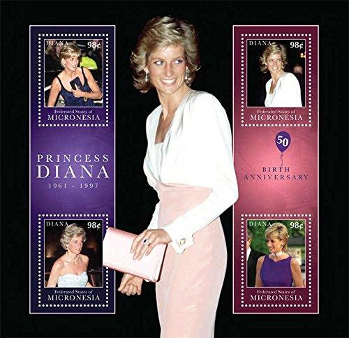 Princess Diana Sheet (Micronesia 2011 Princess Diana 4 Stamp Sheet Scott #936 13Q-107)