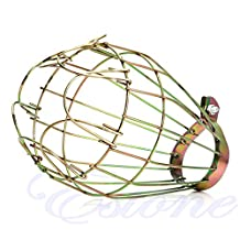 MEXUD Metal Industrial Iron Wire Bulb Guards Clamp Lamp Cage Retro Trouble Light Parts