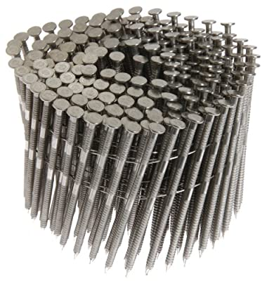 Grip Rite Prime Guard Max MAXC62828 15 Degree Wire Coil 3-Inch by .120-Inch Ring Shank, Stainless Steel Siding Nails 1,800 Per box by Grip Rite Prime Guard