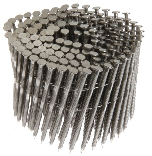 Grip Rite Prime Guard MAXC62823 15-Degree Wire Coil 2-1/2-Inch by .09-Inch Ring Shank, Stainless Steel Siding Nails, 3600 Per Box