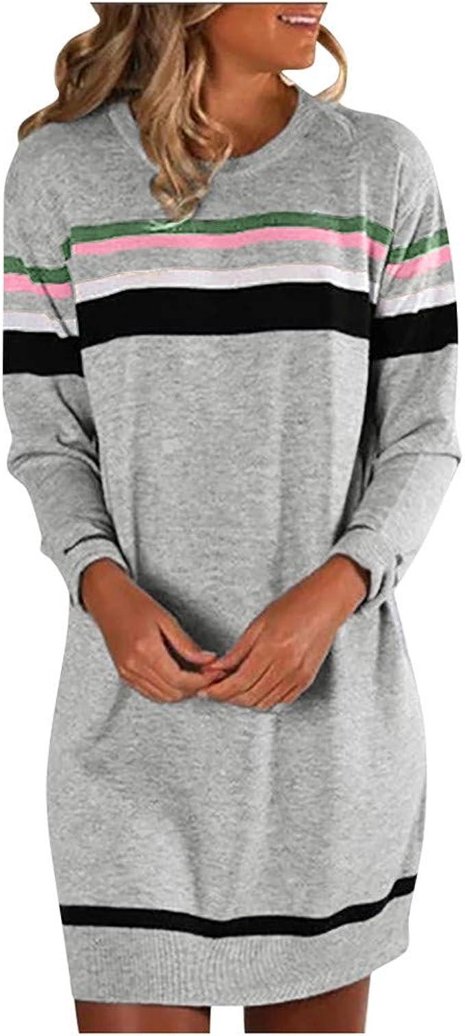 Damen Kleider Verkauf Damen Winter Strickpullover Langarm Solide