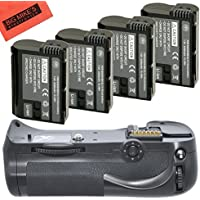 Battery Grip Kit for Nikon D800, D810 Digital SLR Camera Includes Qty 4 Replacement EN-EL15 Batteries + Vertical Battery Grip + More!!