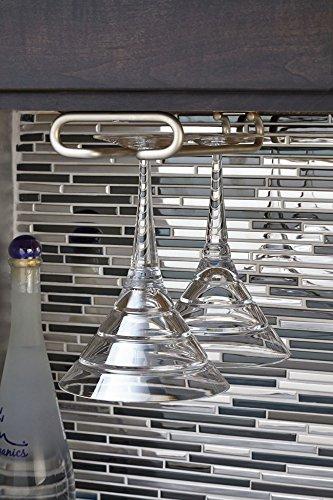 under cabinet wine rack nickel - 7