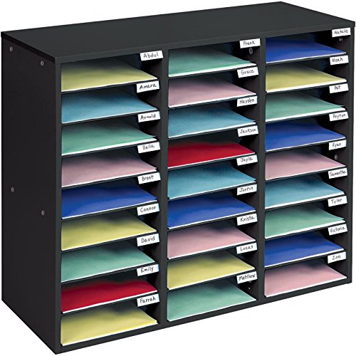 - Really Good Stuff Mail Center – 1 Black Classroom Mail Center with 27 Slots – Keep Your Classroom or Office Organized, Durable, Easy Assembly, 159790BK