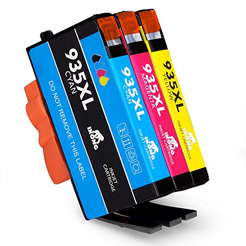 IKONG 3 Colors Compatible Ink Cartridge Replacement for 935XL Ink Cartridges (New Generation Chips) works with Officejet Pro 6830 6835 6230 6812 6815 6820 6220 (3 Colours Compatible Cartridges)
