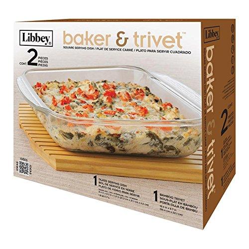 Libby 2 piece Baker & Trivet Set 1.8 quart/1.7L