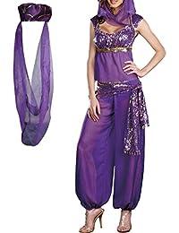 Jasmine Genie Belly Women Dancer Arabian Nights Fancy Dress Costume