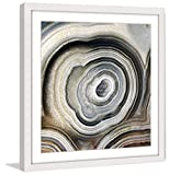 Marmont Hill MH-ABGEO-215-WFP-32 The Eye of The Geode Framed Painting Print,Multicolor,32x32