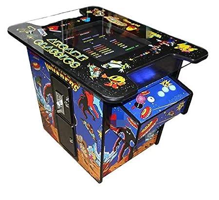 Theoutlettablet@ - Consola Retro Maquina Arcade Cocktail Video Gamepad con 60 Juegos Retro y Pantalla de 19