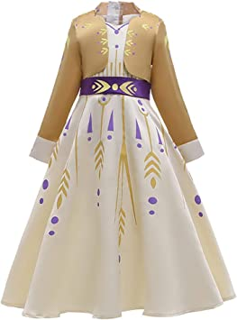 OwlFay Disfraz Elsa Frozen Niñas Princesa Ana Vestido Reino de ...