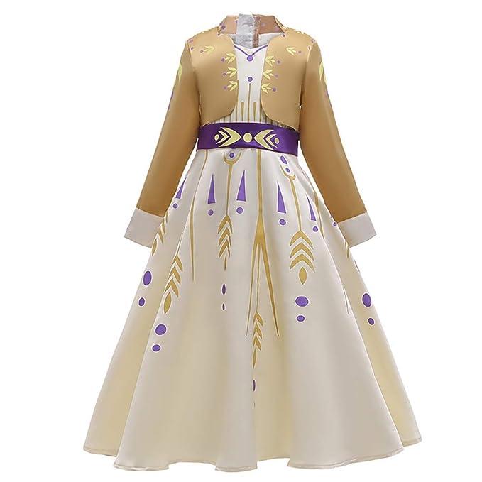 Disfraz Anna Frozen Niñas con Capa Princesa Elsa Vestido ...