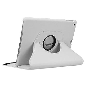 doupi Deluxe Protección Funda iPad Air (1. Gen.), Smart Case Sleep/Wake función 360 grados de la cubierta de cuero giratoria del caso del soporte ...