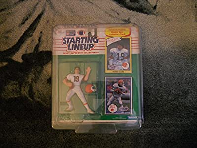 Starting Lineup Sports Super Star Collectible Figure - 1990 Edition Card Plus Rookie Year Card- Cleveland Browns Bernie Kosar
