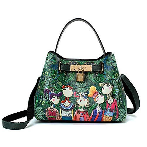 FHGJ Women's Bags PU(Polyurethane) Shoulder Bag Buttons Green