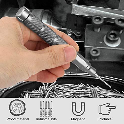 電子時計修理のために置かれる1つの精密磁気ビットスクリュードライバーに付き24, 24の1精密ドライバー電子時計修理ドライバーセット磁気ビット