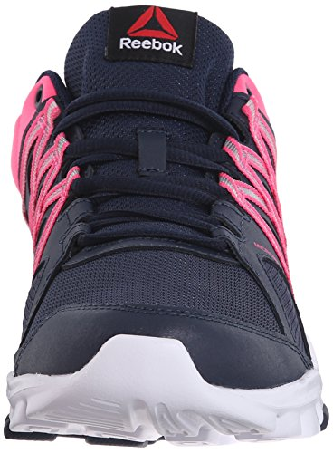 Reebok Damen Trainingsschuh Yourflex Trainette 8.0L MT Collegiate Navy / Solar Pink / Weiß