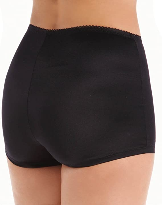 Vassarette Women/'s Undershapers Boyshorts 42001 Black 7//L New w//o Tags
