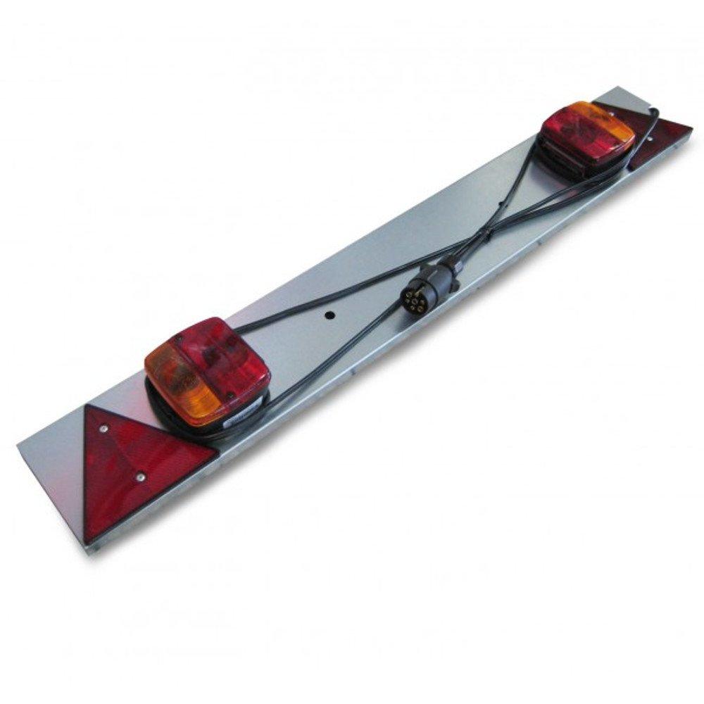 Rampe Plaque de Signalisation Galvanisée pour Remorque avec Feux et prise broches - 1010