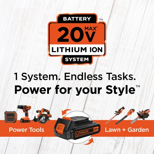 BLACK+DECKER LD120VA 20-Volt Max Lithium Drill/Driver with 30 Accessories - Orange