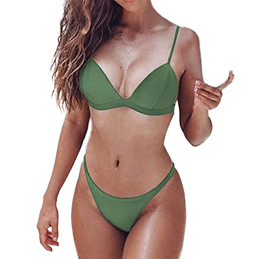 b09256e0224 Image Unavailable. Image not available for. Color: Atezch Women's Two Piece  Bikini Bathing Suit ...