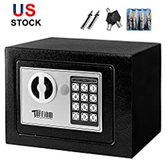 ATTENTION: Never leave keys inside the safe box!  Features:  ☆ Protect your assets. Good security for storage jewelry, cash, documents, small pistol gun and valuables, noble metals. Great for home, hotel, office or business use. It is ...