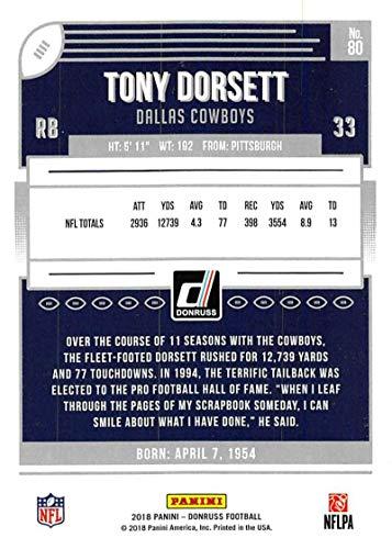 ebeb6ea15f5 Amazon.com: 2018 Donruss Press Proof Blue Football #80 Tony Dorsett Dallas  Cowboys: Collectibles & Fine Art