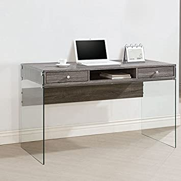 coaster 800818 home furnishings desk weathered grey amazoncom coaster shape home office