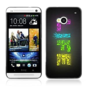 Designer Depo Hard Protection Case for HTC One M7 / LIFE Colorful