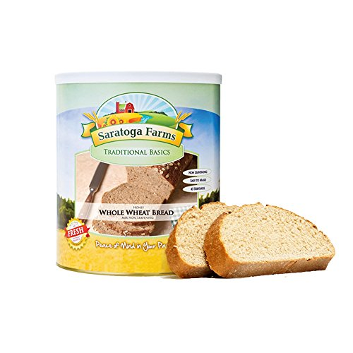 Saratoga Farms Honey Whole Wheat Bread Mix, Emergency Food Storage with 45 Total Servings per #10 Can with 10-20 Year Shelf-Life (Save More with 1,2,3,4, or 6 -