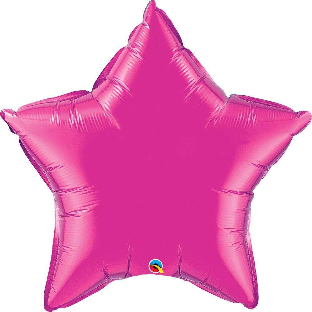 Magenta 36 (Pack Quantity4) NANA'S PARTY Qualatex Couleur Unie en Forme d'étoile Décoration de Ballons Foil {Air Helium}, Quartz violet, 36 (Pack Quantity12)