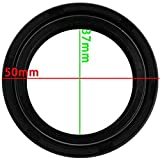25 Hours New Rubber Front Fork Oil Seal Set 37 mm x