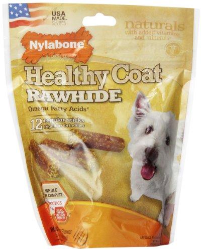 UPC 018214825623, Nylabone USA Rawhide Healthy Coat Fatty Acid, 12-Count Pouch