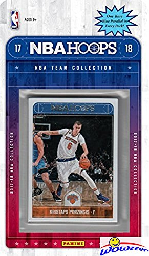 fan products of New York Knicks 2017/18 Panini Hoops NBA Basketball EXCLUSIVE Factory Sealed Limited Edition 13 Card Team Set with Kristaps Porzingis, Tim Hardaway Jr & Many More! Shipped in Bubble Mailer! WOWZZER!