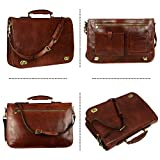 Leather Briefcase for Men Italian Handcrafted Full