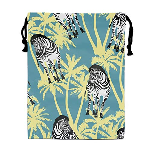 (Sketch With Wild Animal Zebra Party Favors Bags Gift Candy Drawstring)