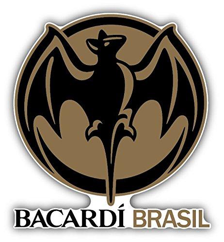 Bacardi Rum Brasil Dark Drink Label Bumper Sticker Vinyl Art Decal for Car Truck Van Window Bike Laptop