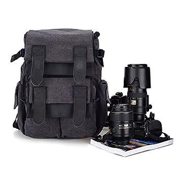 DSLR cámara Mochila con protector de lluvia, CADEN impermeable ...