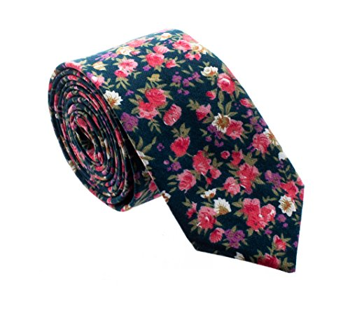 Floral Paisely Ties for Men - Cool Mens Neckties - Floral - Green, Pink, Purple