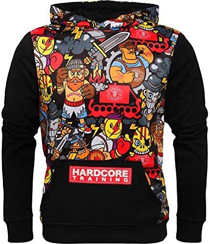男性用パーカー セータースポーツウェア Hardcore Training Hoodie Men's Doodles アクティブフィットネスワークアウト