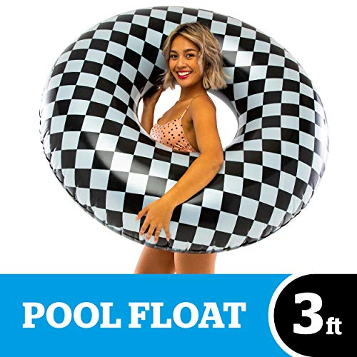 Checkered Flag Emoji (BigMouth Inc. Checker Pool Float - Over 3 Foot Pool Float, Durable Inflatable Vinyl Summer Pool or Beach Toy, Makes a Great Gift)