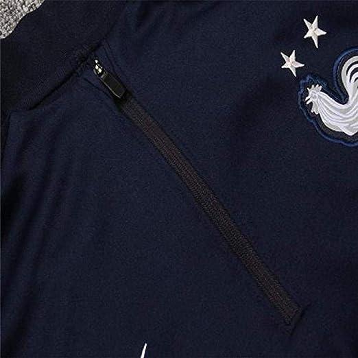 DDFHK French Home 2 /étoiles de Football /à Manches Longues Uniformes Outfield Service Sweat Suit Training Suit-B/_M
