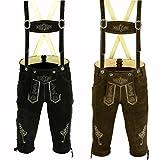 Trends Men's Bavarian Trachten Lederhosen Leather Shorts SOLD AS SET OF TWO (34)
