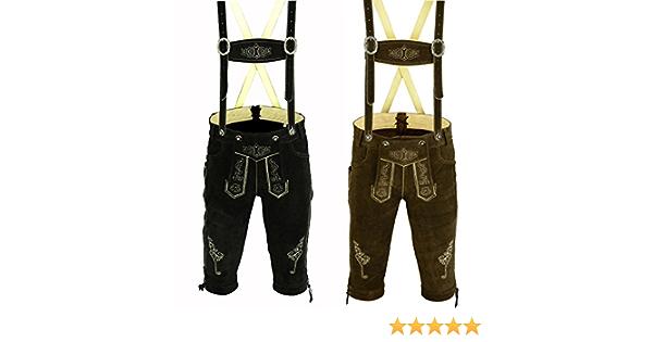White Oktoberfest Lederhosen Men BAVARIA TRACHTEN New! Trend 2020 Authentic Real Leather